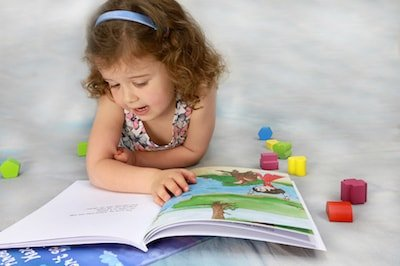 Personalised children's book open
